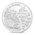 10 euro France 2017 argent BE - Année du Coq Revers