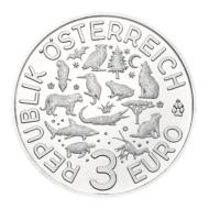 3 euro Autriche chauve-souris 2016