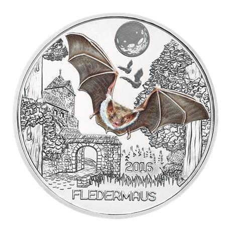 3 euro Autriche chauve-souris