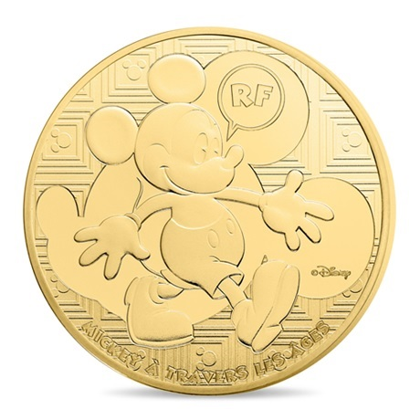 (EUR07.ComBU&BE.2016.10041300550000) 50 euro France 2016 Au BE - Mickey Mouse Avers
