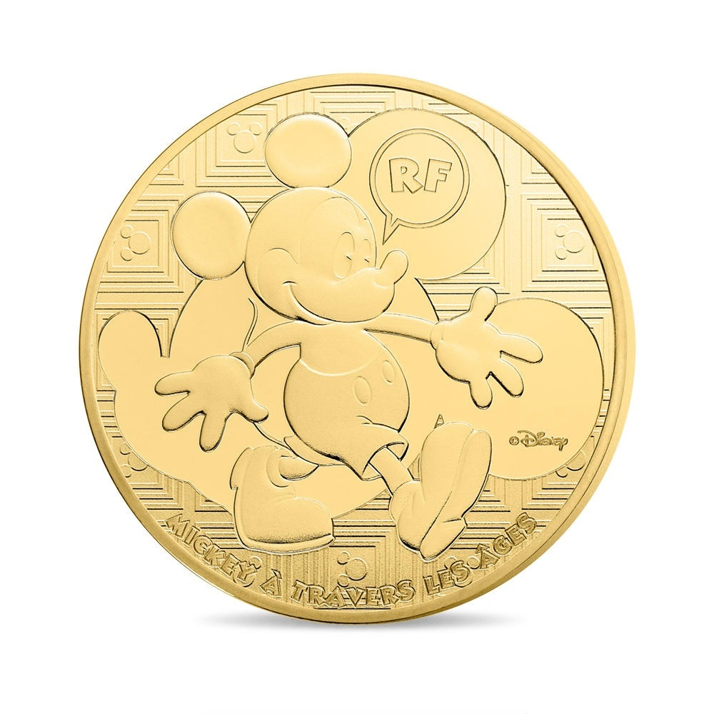 (EUR07.ComBU&BE.2016.10041300550000) 50 euro France 2016 Proof Au - Mickey Mouse Obverse (zoom)