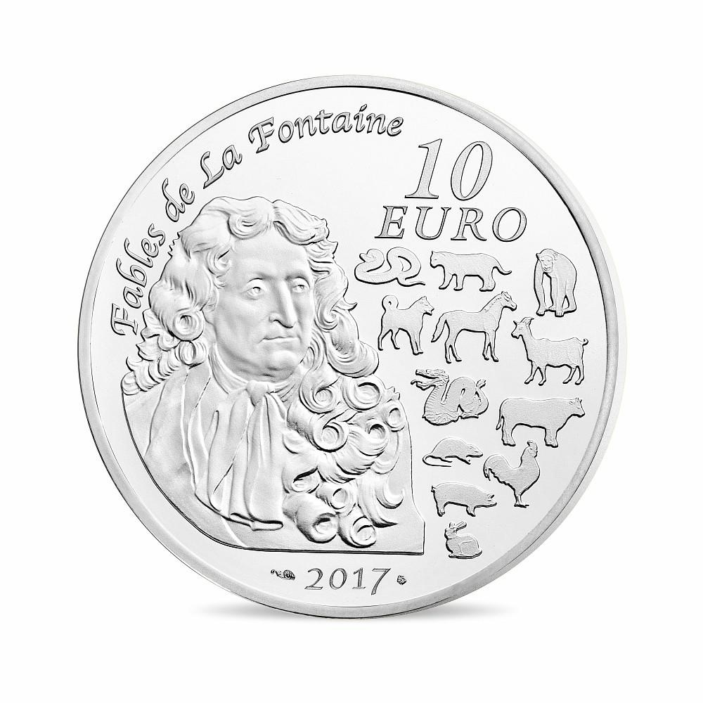 (EUR07.ComBU&BE.2017.10041300960000) 10 euro France 2017 Proof Ag - Year of the Rooster Reverse (zoom)