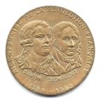 (FMED.Méd.even.1989.CuAlNi-3.000000001) Jeton événementiel - Danton et Desmoulins Avers