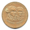 (FMED.Méd.even.1989.CuAlNi1.000000002) Jeton événementiel - Robespierre et Saint-Just Avers