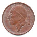 (W023.050.1955.2.000000001) 50 centimes Mineur, Petite tête 1955 Avers