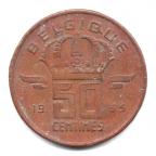 (W023.050.1955.2.000000001) 50 centimes Mineur, Petite tête 1955 Revers