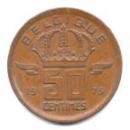 (W023.050.1975.2.000000001) 50 centimes Mineur, Petite tête 1975 Revers