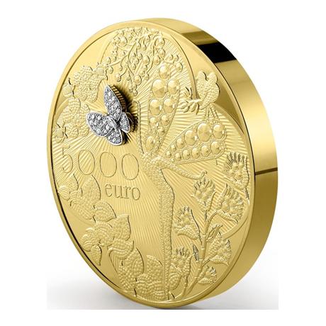 5000 euro france 2016 or be van cleef arpels elys es numismatique. Black Bedroom Furniture Sets. Home Design Ideas