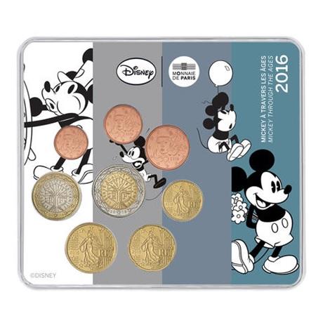(EUR07.CofBU&FDC.2016.10041301030000) Mini-set BU France 2016 - Mickey Mouse Recto