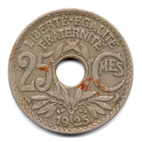 (FMO.025.1925.15.9.000000002) 25 centimes Lindauer 1925 Revers