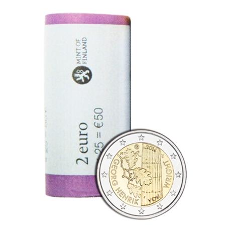 rouleau-2-euro-commemorative-finlande-2016-georg-henrik-von-wright