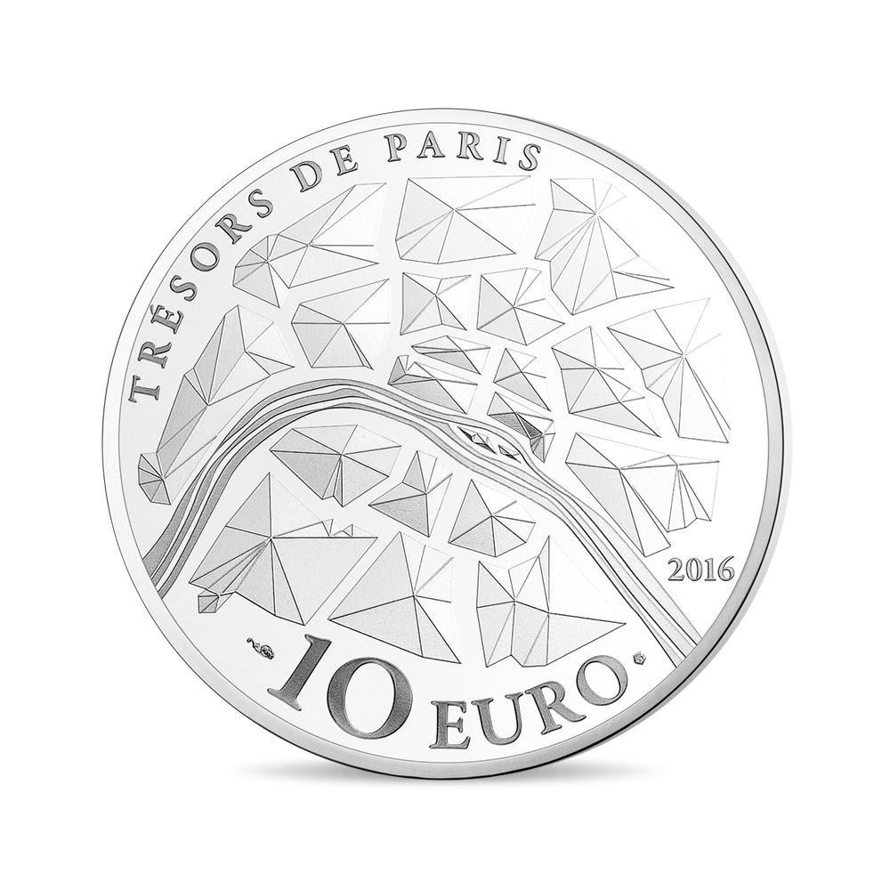 (EUR07.ComBU&BE.2016.10041300940000) 10 euro France 2016 Proof silver - Institut de France Reverse (zoom)