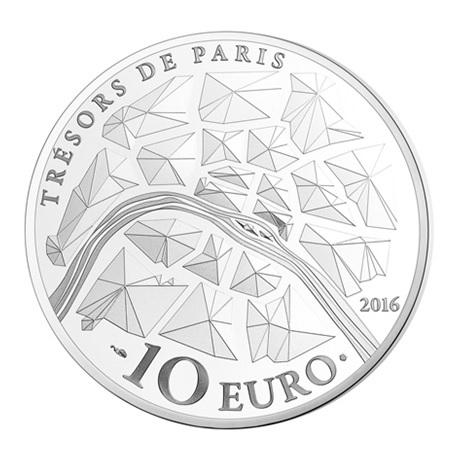 (EUR07.ComBU&BE.2016.10041300940000) 10 euro France 2016 argent BE - Institut de France Revers