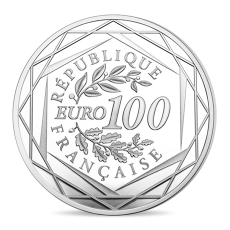 100 euro France 2017 argent BU - Marianne Revers