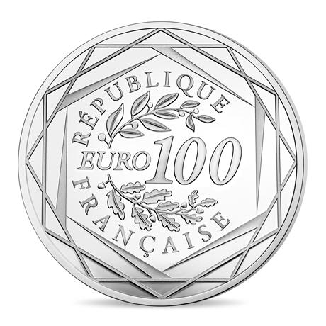 100 euro France 2017 argent - Rodin et son Penseur Revers