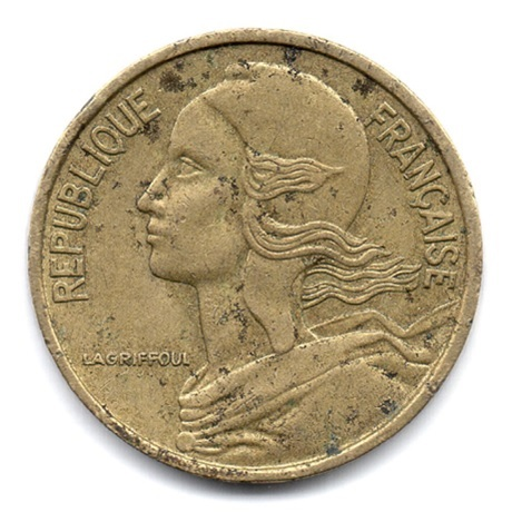 (FMO.005.1971.13.6.000000001) 5 centimes Marianne 1971 Avers