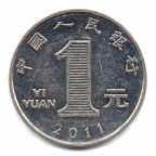 (W041.100.2011.1.000000001) 1 Yuan Chrysanthème 2011 Revers