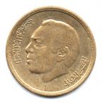 (W145.20S.1974.1.000000001) 20 Santimat Hassan II 1974 Avers