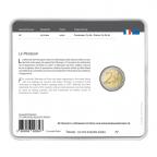 2 euro commémorative France 2017 BU - Rodin et son Penseur Verso