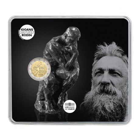 2 euro commémorative France 2017 BU - Rodin et son Penseur