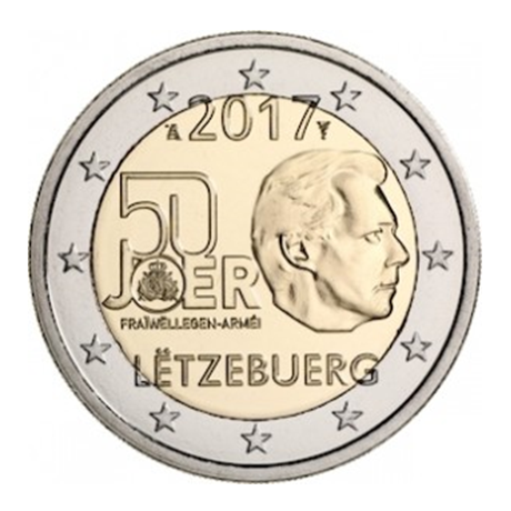 2 euro commémorative Luxembourg 2017 - Armée luxembourgeoise
