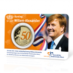 50 cent Pays-Bas 2017 UNC - Anniversaire du roi (verso)