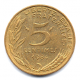 (FMO.005.1984.13.19.000000001) 5 centimes Marianne 1984 Revers