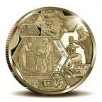 Médaille or BE 2017 - Monnaie Royale des Pays-Bas Revers