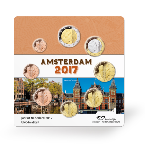 Uncirculated coin set Netherlands 2017 (Amsterdam) Front (zoom)