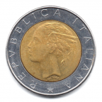 (W115.50000.1983.1.000000001) 500 Lire Palais du Quirinal 1983 Avers
