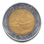 (W115.50000.1983.1.000000001) 500 Lire Palais du Quirinal 1983 Revers