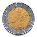 (W115.50000.1984.1.000000001) 500 Lire Palais du Quirinal 1984 Avers