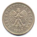 (W175.020.1992.1.000000001) 20 Groszy Aigle 1992 Avers