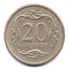 (W175.020.1992.1.000000001) 20 Groszy Aigle 1992 Revers
