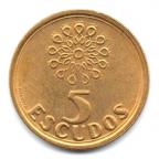 (W176.5.1997.1.000000002) 5 Escudos Emblème 1997 Revers
