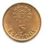 (W176.5.1997.1.000000003) 5 Escudos Emblème 1997 Revers