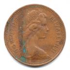 (W185.np001.1975.1.000000001) 1 New Penny Insigne de Henri VII 1975 Avers