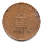 (W185.np001.1975.1.000000001) 1 New Penny Insigne de Henri VII 1975 Revers