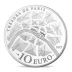 10 euro France 2017 argent BE - Statue de la Liberté de Paris Revers