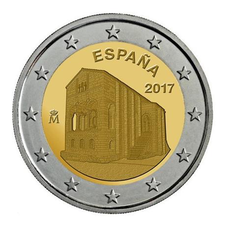 2 euro commémorative Espagne 2017 - Eglise Santa María de Naranco d'Oviedo