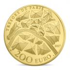 200 euro France 2017 or BE - Statue de la Liberté de Paris Revers