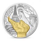 50 euro France 2017 argent BE - Statue de la Liberté de Paris Avers