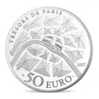 50 euro France 2017 argent BE - Statue de la Liberté de Paris Revers