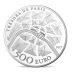 500 euro France 2017 argent BE - Statue de la Liberté de Paris Revers