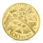 500 euro France 2017 or BE - Statue de la Liberté de Paris Revers