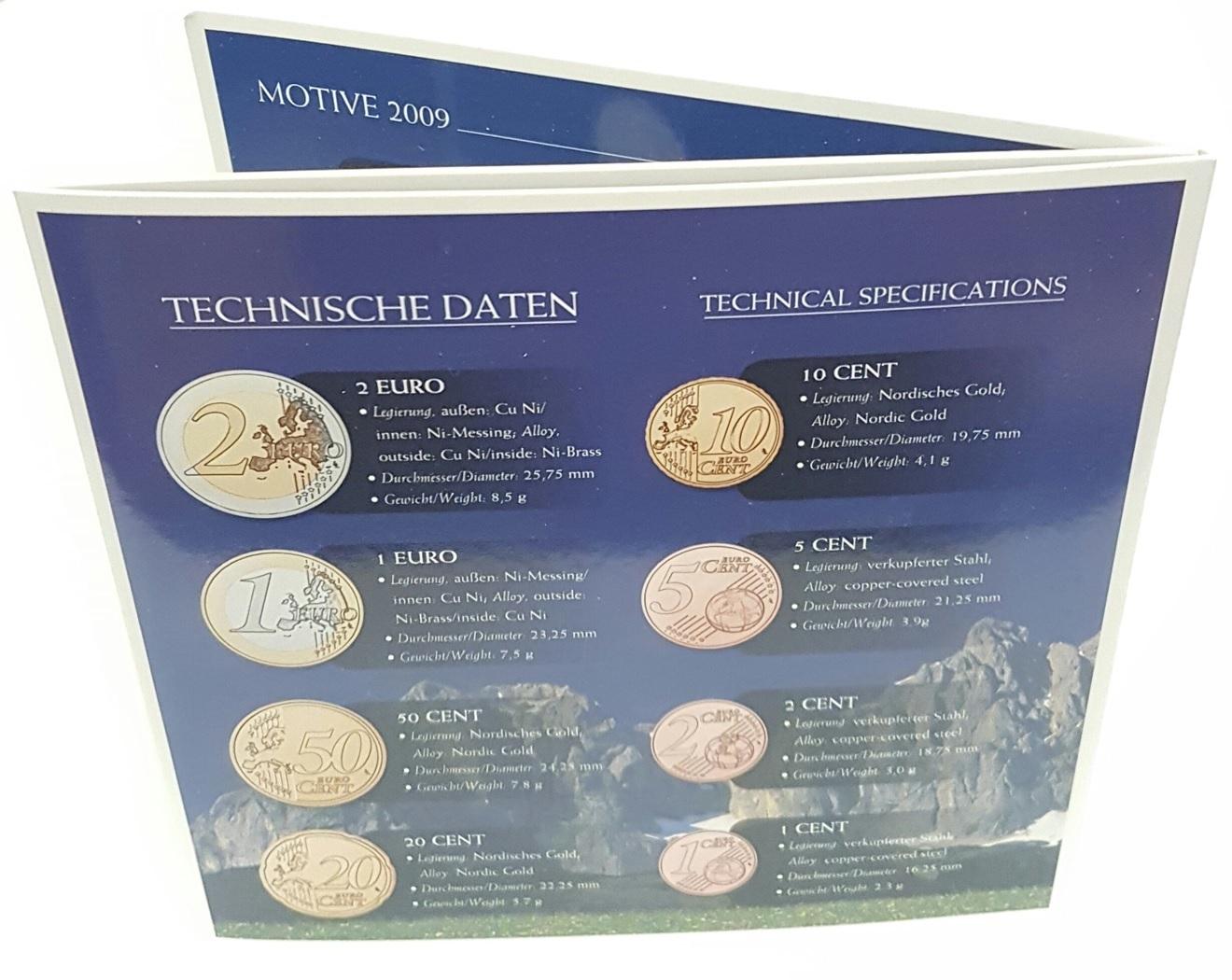 (EUR01.CofBU&FDC.2009.Cof-BU.000000002) BU coin set Austria 2009 Back (zoom)
