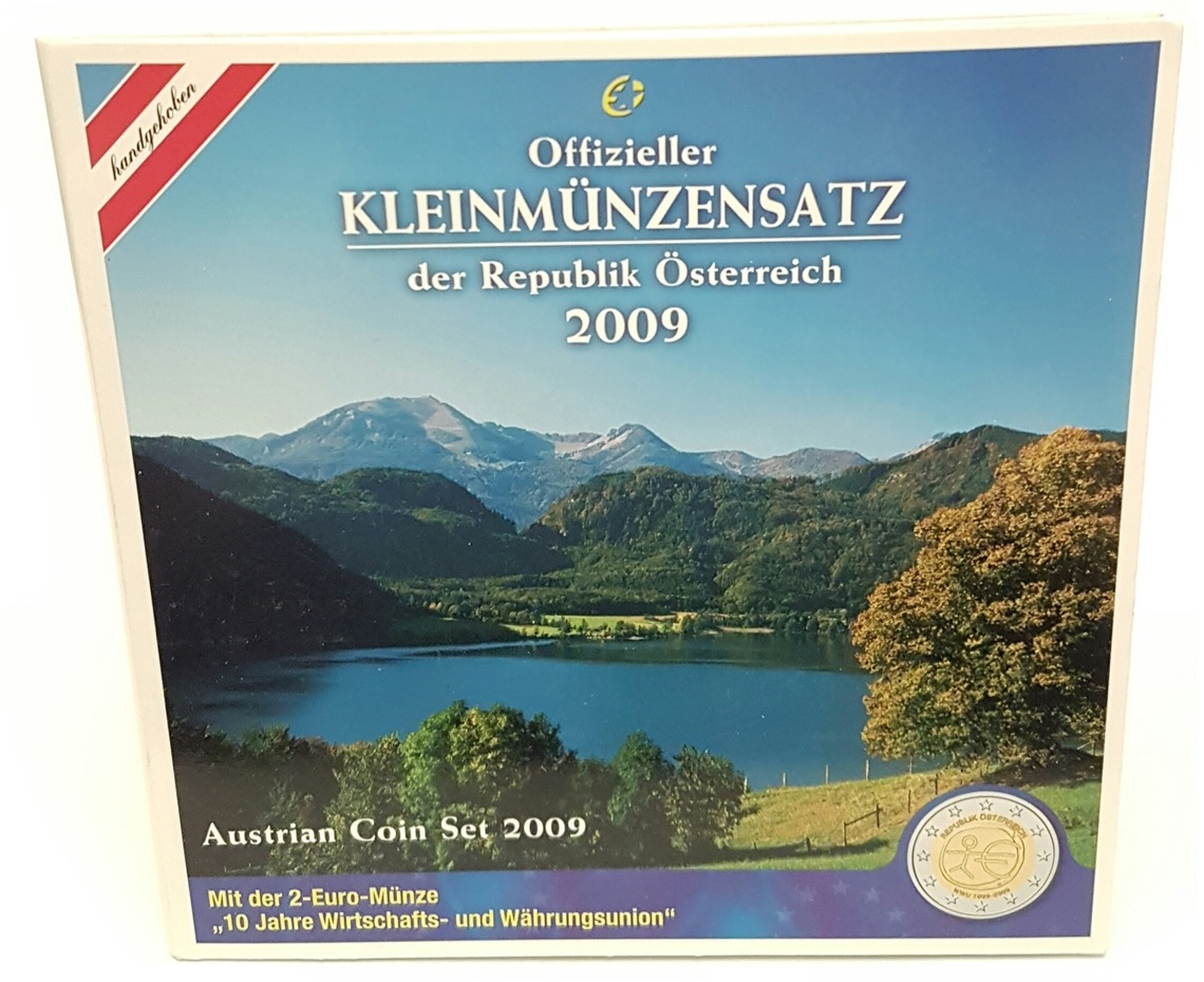 (EUR01.CofBU&FDC.2009.Cof-BU.000000002) BU coin set Austria 2009 Front (zoom)