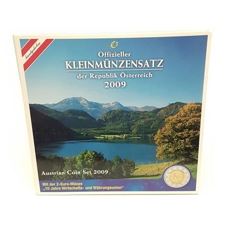 (EUR01.CofBU&FDC.2009.Cof-BU.000000002) Coffret BU Autriche 2009 Recto