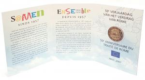 (EUR02.ComBU&BE.2007.200.BU.COM1.000000002) 2 euro commémorative Belgique 2007 BU - Traité de Rome (intérieur) (zoom)