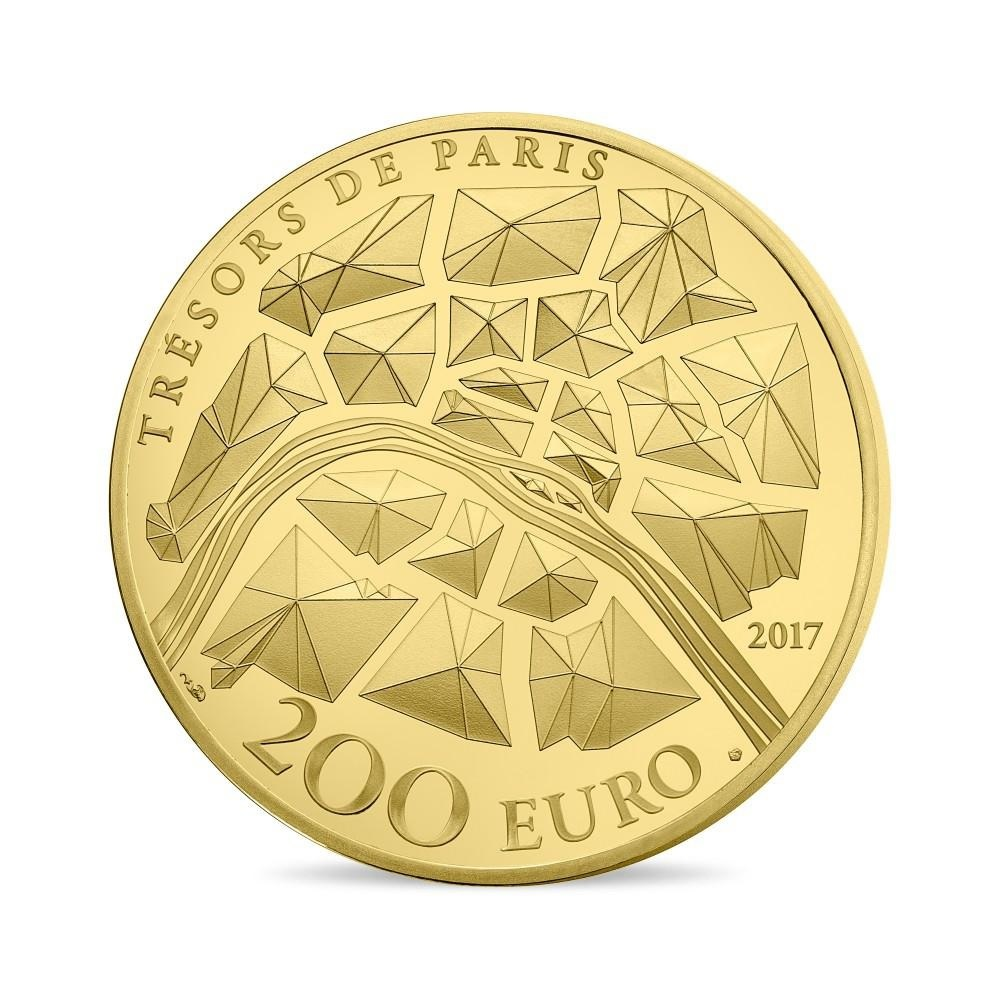 (EUR07.ComBU&BE.2017.10041309580000) 200 euro France 2017 Proof gold - Statue of Liberty Reverse (zoom)